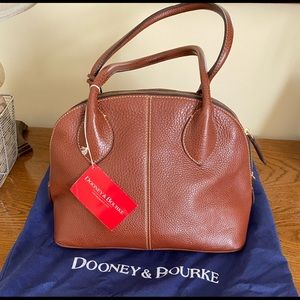 NWT Dooney & Bourke pebbled brown leather satchel